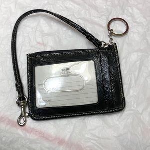 Coach keychain card holder
